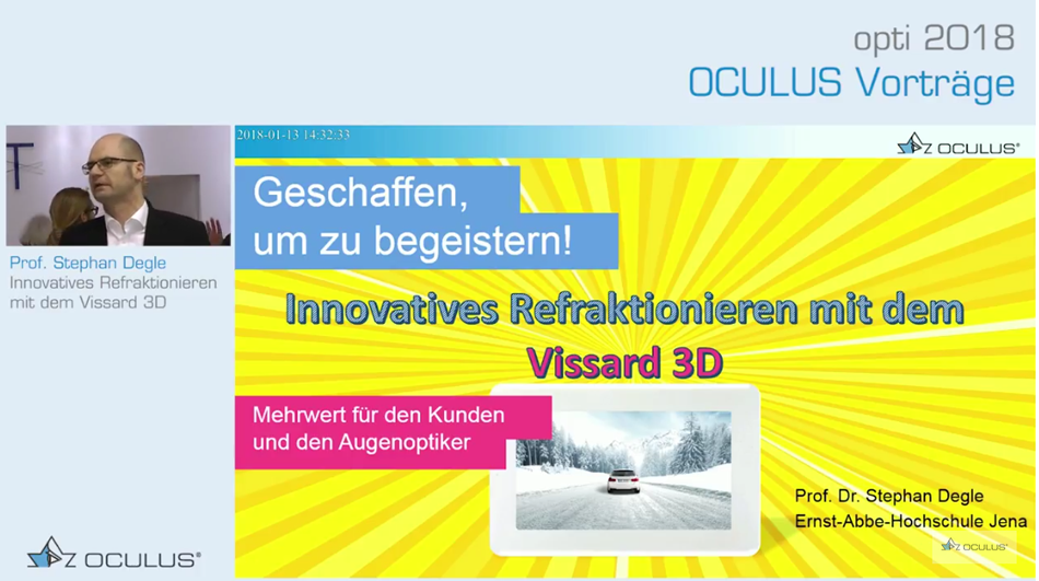 Innovatives Refraktionieren mit dem Vissard 3D